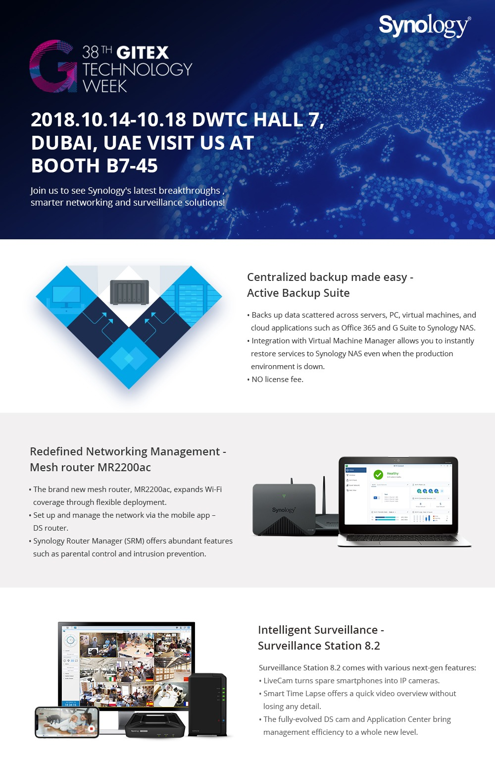 Synology GITEX 2018 Invitation